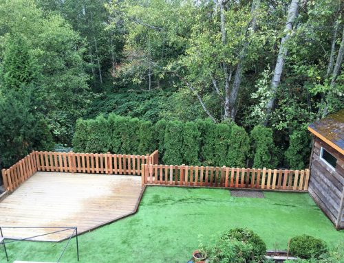 Retaining Wall, New Deck & Gated Fence