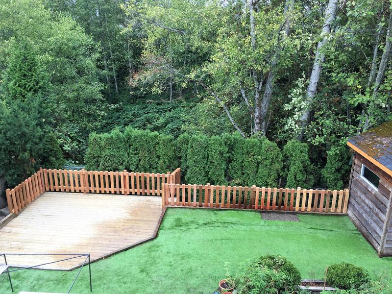 Retaining Wall, New Deck & Gated Fence Maple Ridge